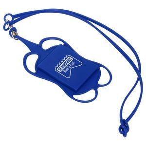 Silicone Lanyard Smart Phone and Card Holder